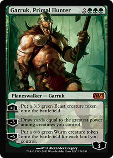 Magic the Gathering Garruk Primal Hunter