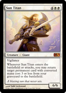 Magic the Gathering Sun Titan