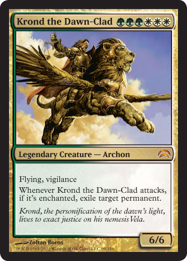 Krond the dawn clad planechase 2012 card review